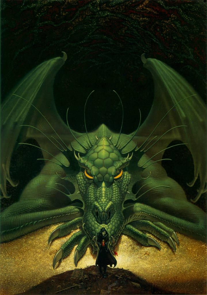 Dragon Staring At Death