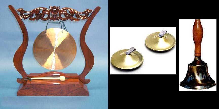Gong, Finger Cymbals, And Bell.jpg
