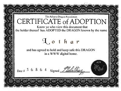 Lothar--Certificate Of Adoption